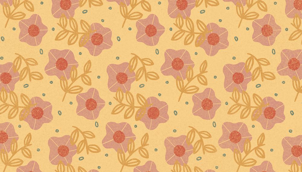 flower pattern yellow
