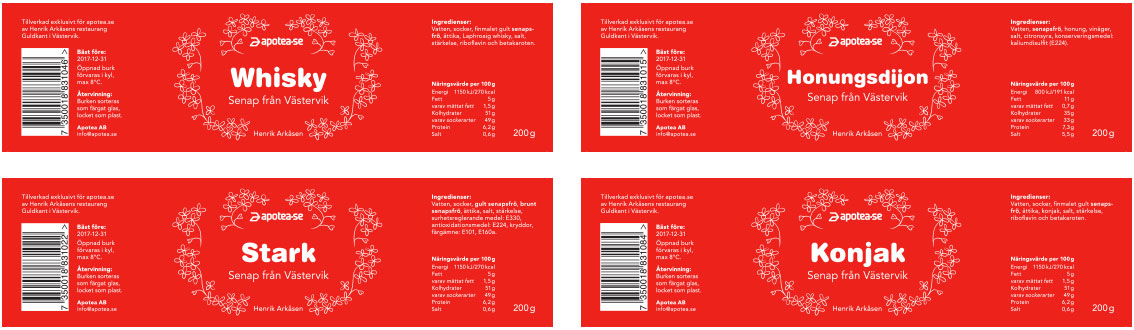 apotea.se mustard labels