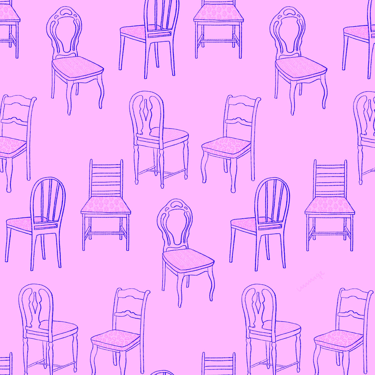 Chair pattern pink