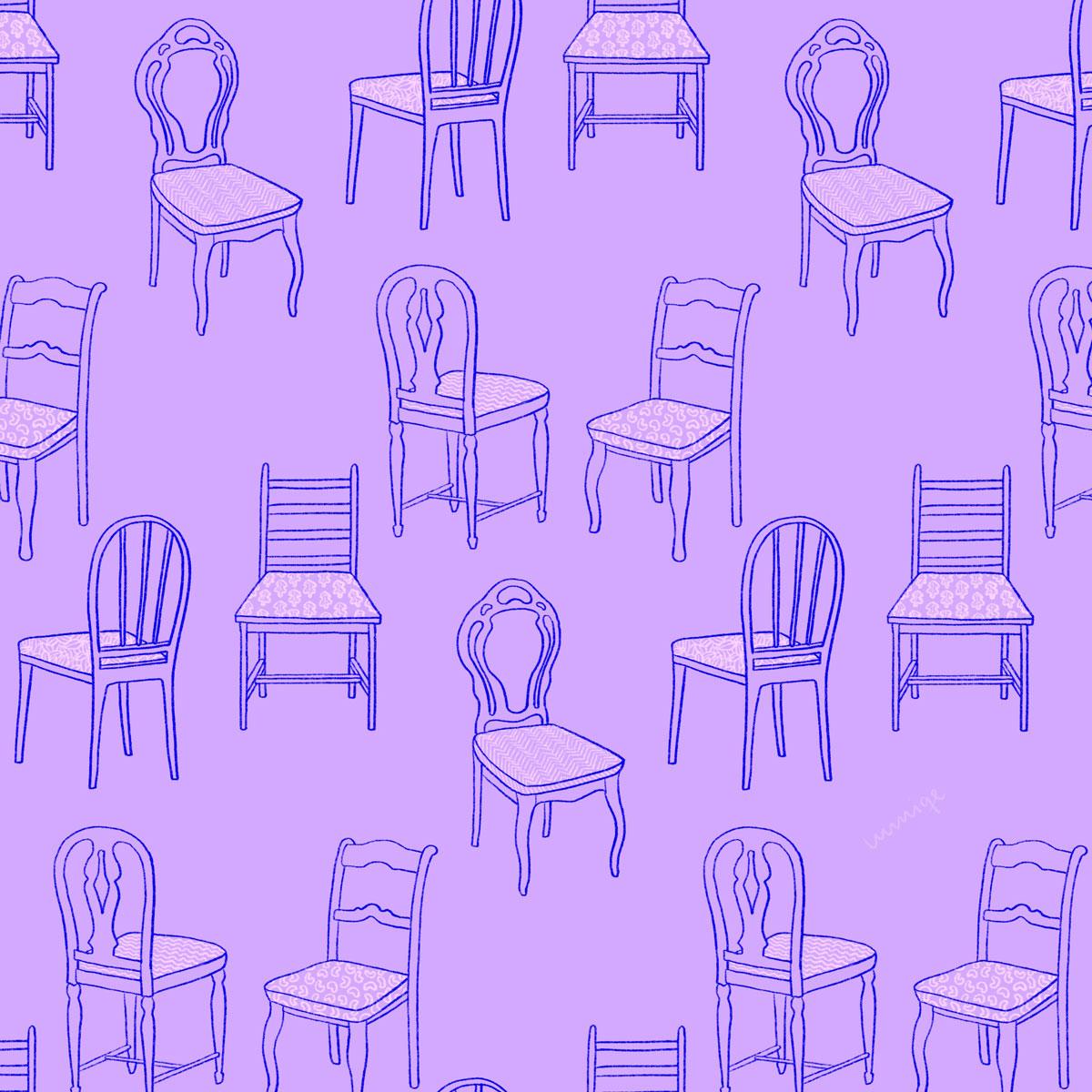 Chair pattern purple